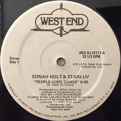 EDNA HOLT & STARLUV:PEOPLE COME DANCE(LABEL SIDE-A)