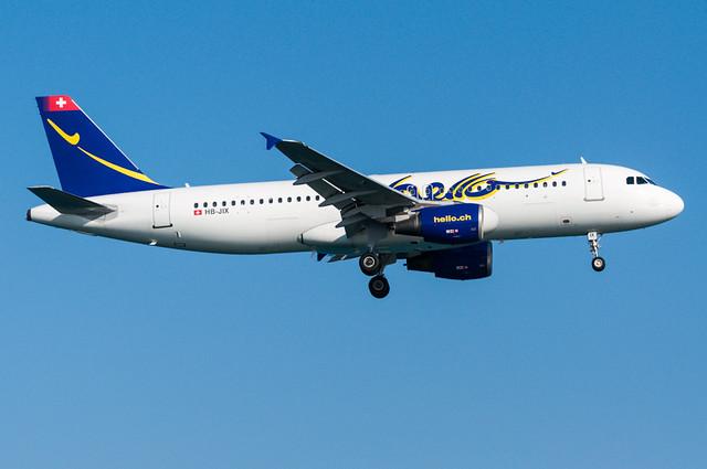 HB-JIX - Hello Switzerland - Airbus A320-200