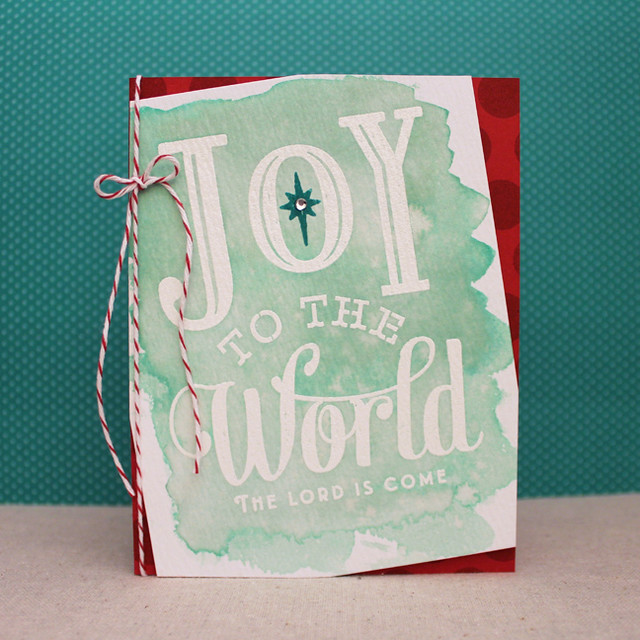 Watercolor Joy To The World Card