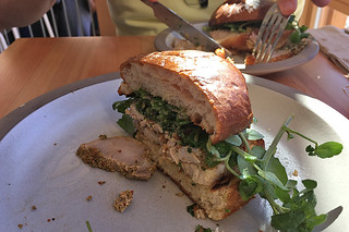 Tartine Manufactory - Porchetta Sandwich slice