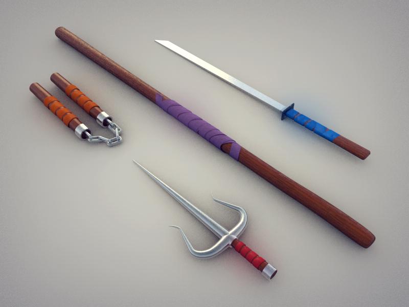 Image Gallery ninja turtle weapons