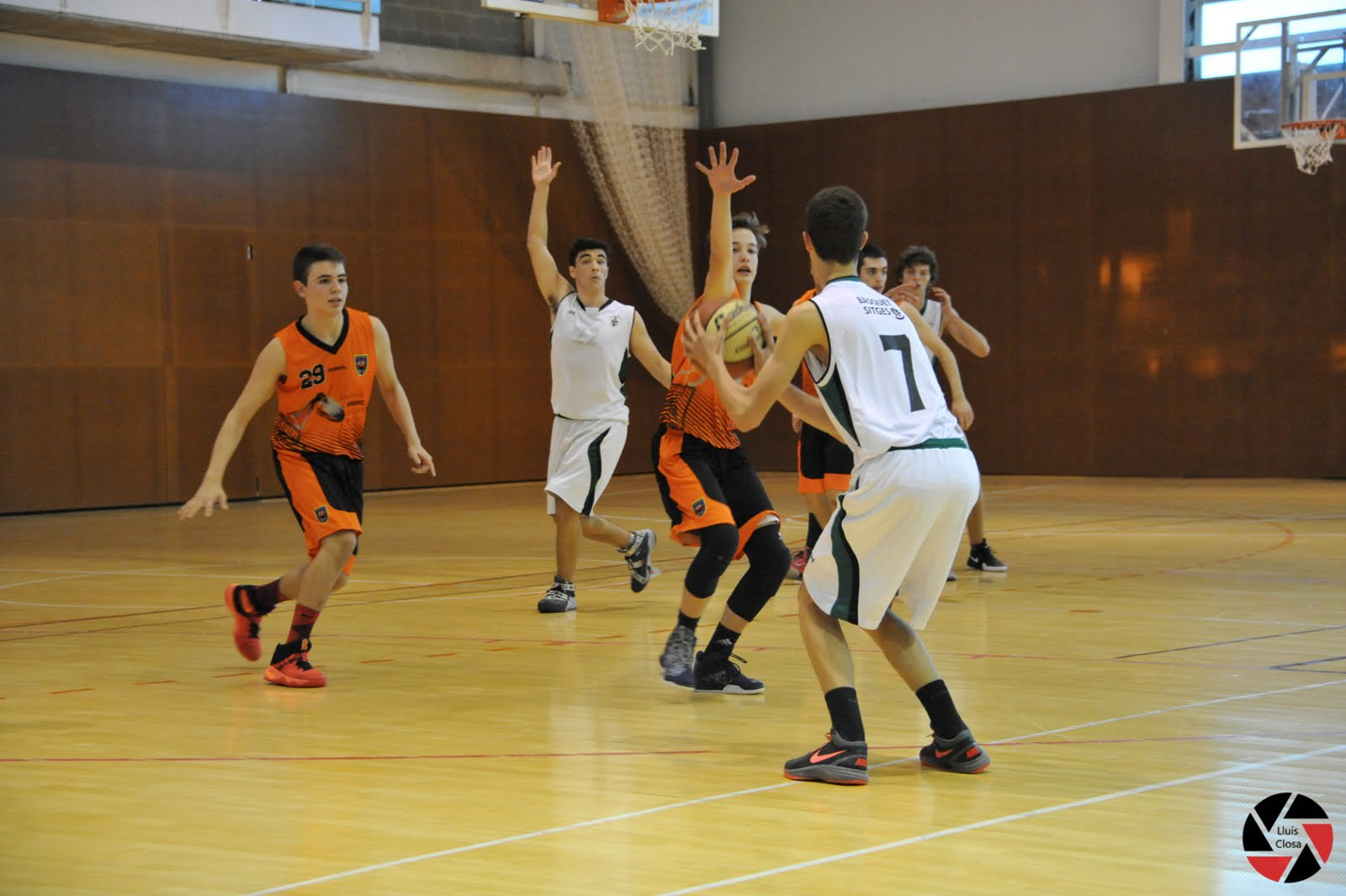 Júnior masculí contra Bàsquet Sitges (12.11.16)