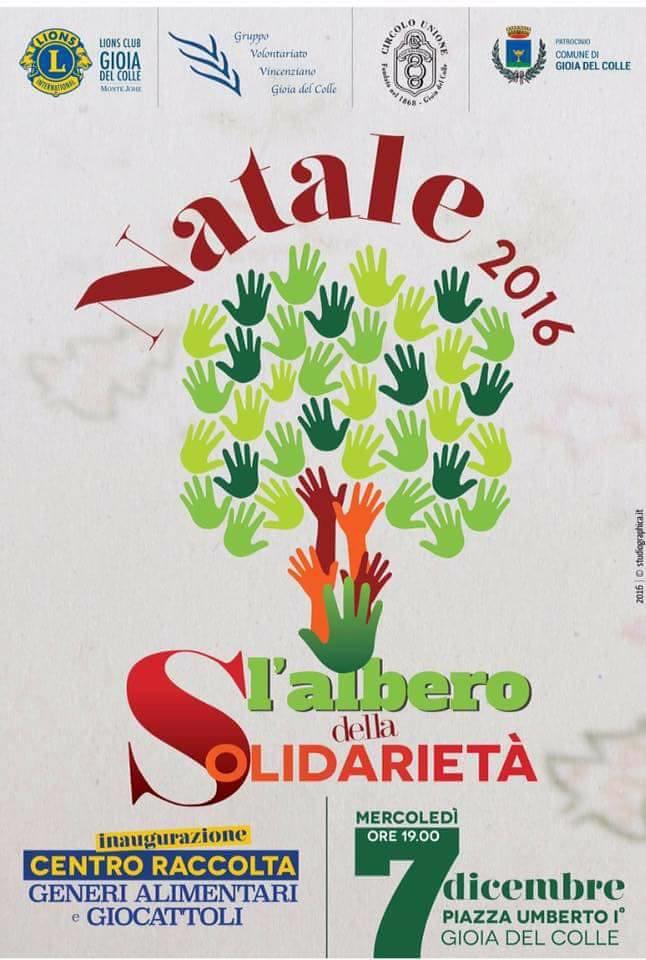 aspettando natale. albero della solidarietà