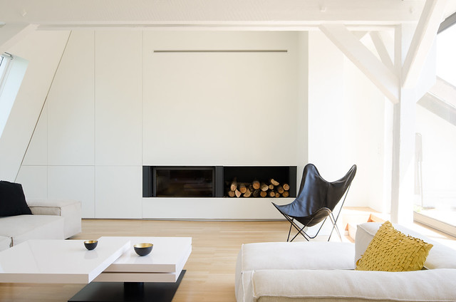 Attic interior by f+f architectes. Sundeno_13