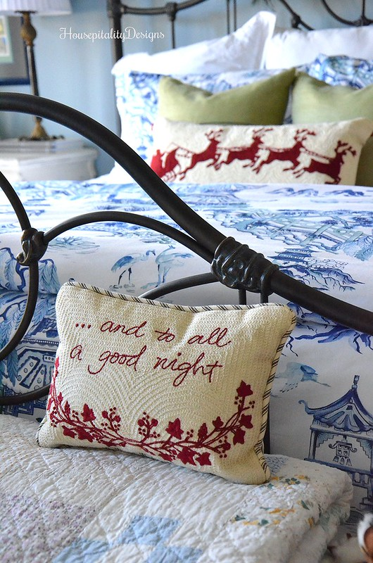 Blue and White-Guest Room-Christmas-Housepitality Designs