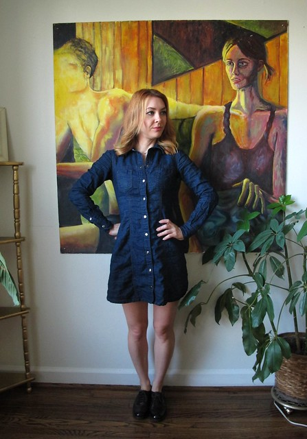 Denim Rosa Dress - front