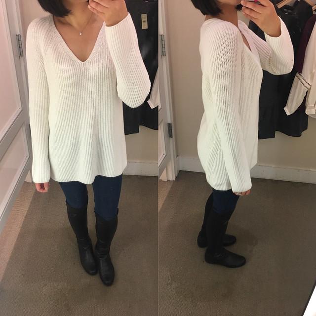 Lou & Grey Ribbed Tunic Sweater, size XS regular