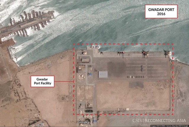 Gwadar Port, Google Earth