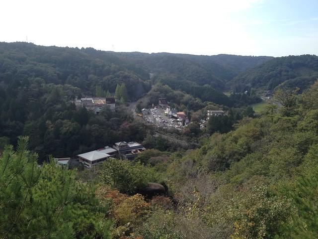 鬼岩公園 鬼岩公園 蓮華岩・烏帽子岩コース 烏帽子岩休憩舎からの眺望