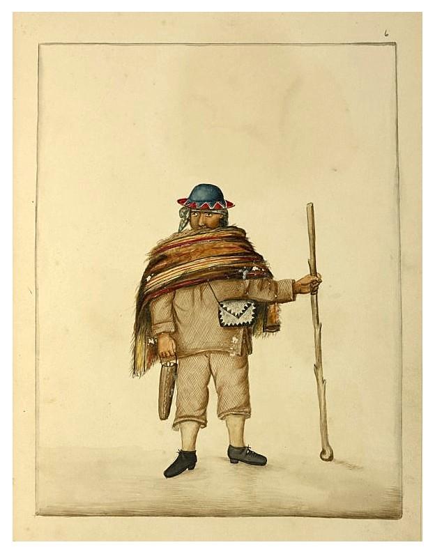 001 Hombre con el bastón pañuelos sombrero de ala estrecha monedero -década 1830-40- NYPL