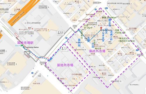 築地市場Map