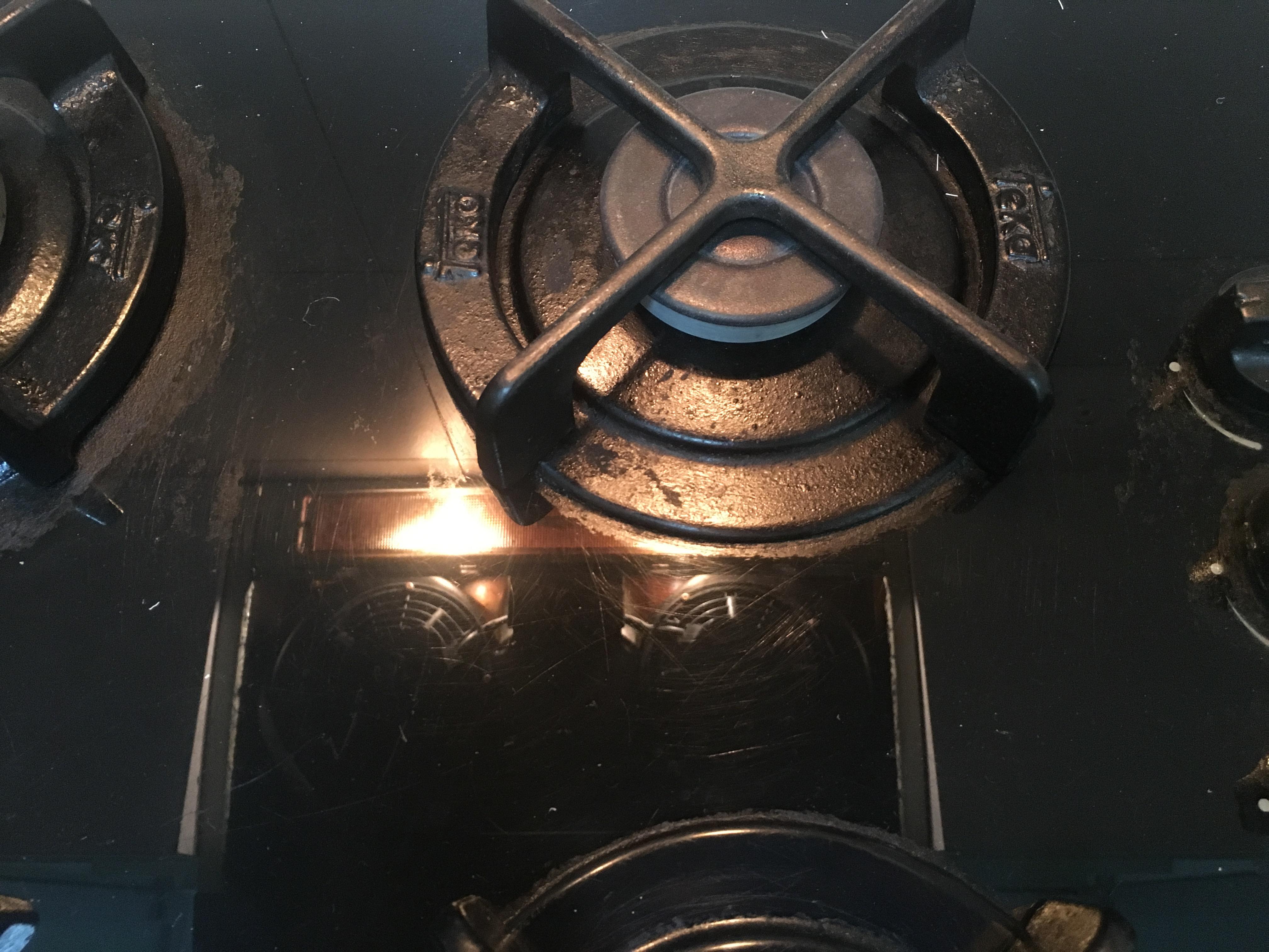 grimy stove