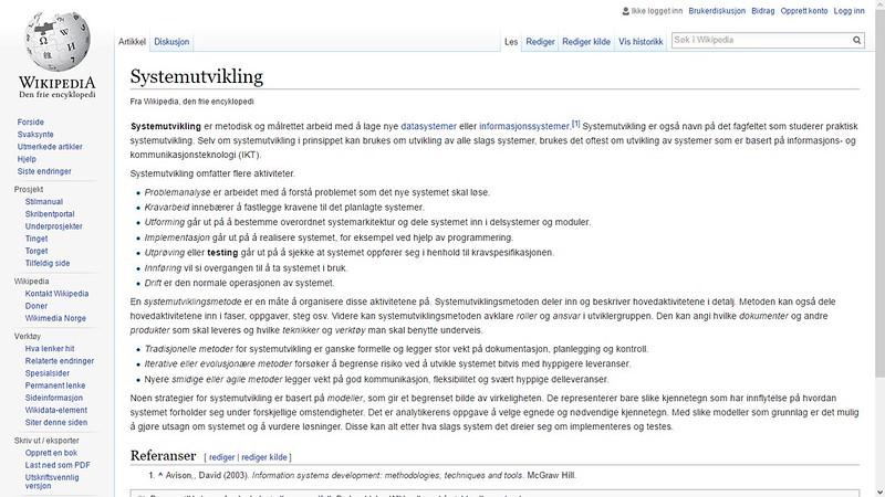 systemutvikling wiki