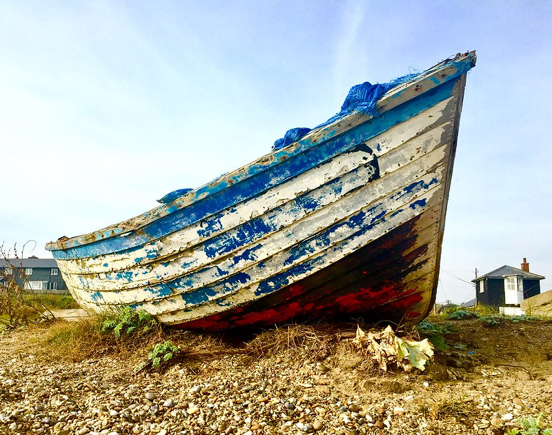 Boat on the beach Sizewell Suffolk