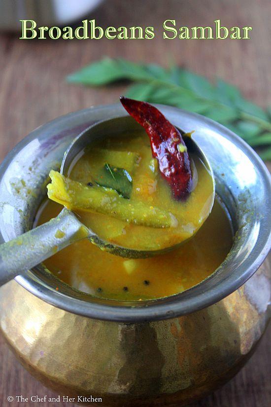 broadbeans sambar