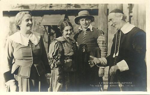 Ida Carloni Talli, Domenico Serra and Emilia Vidali in I promessi sposi (1922)