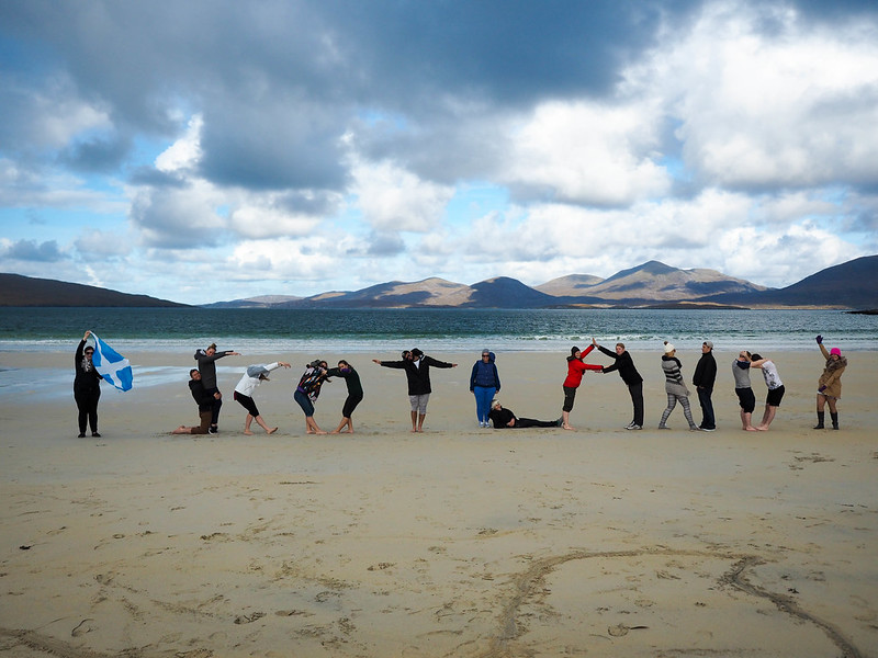 Haggis Adventures group on Luskentyre Beach