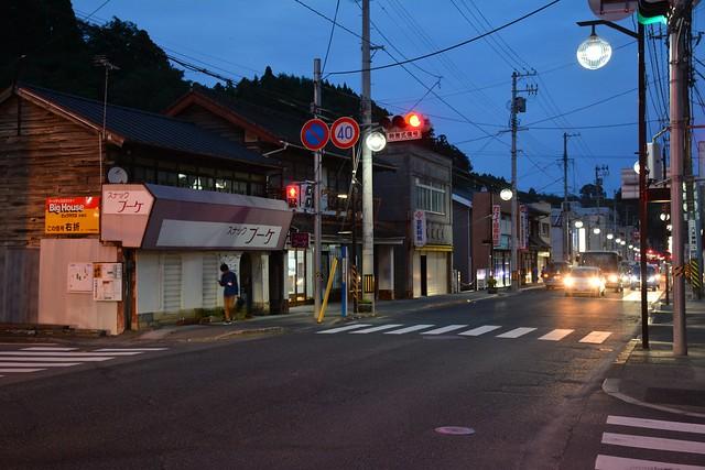 夕方の気仙沼:東浜街道