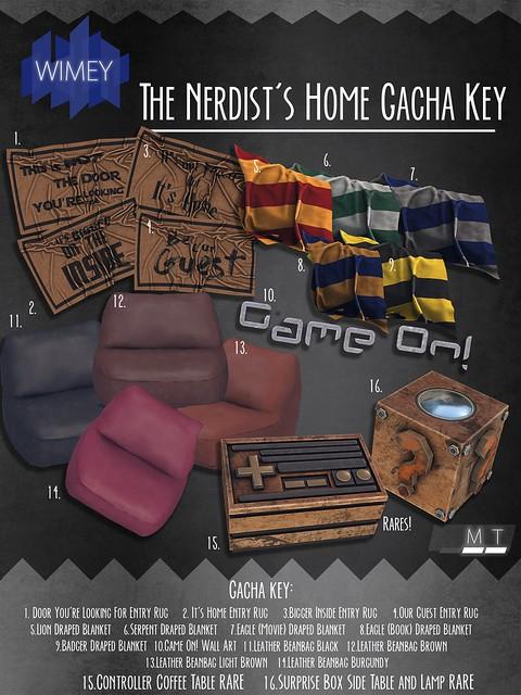 Wimey: The nerdist's Home Gacha Key