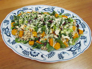 Squash, Millet & Kale Salad with Lemon-Tahini Dressing