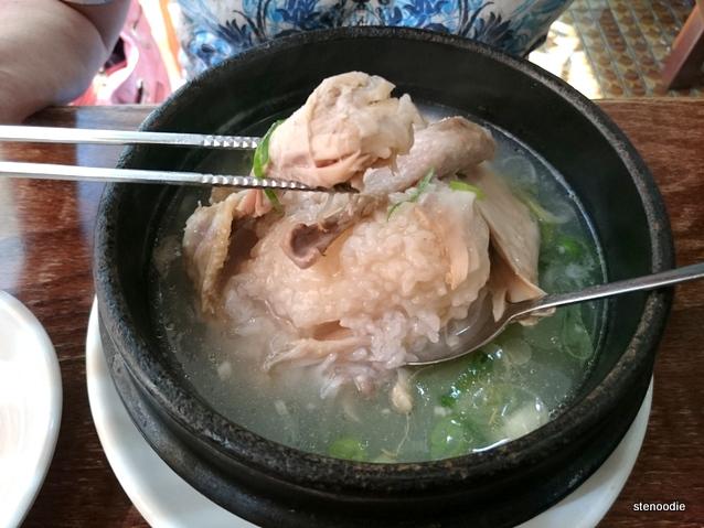 Samgyet'ang ginseng chicken broth