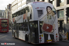 Wrightbus NRM NBFL - LTZ 1226 - LT226 - YouTube CF - Victoria 38 - Arriva London 38 - London - 161126 - Steven Gray - IMG_5146