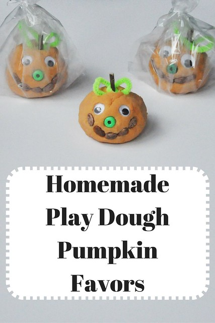 Homemade Play Dough Pumpkin Favors