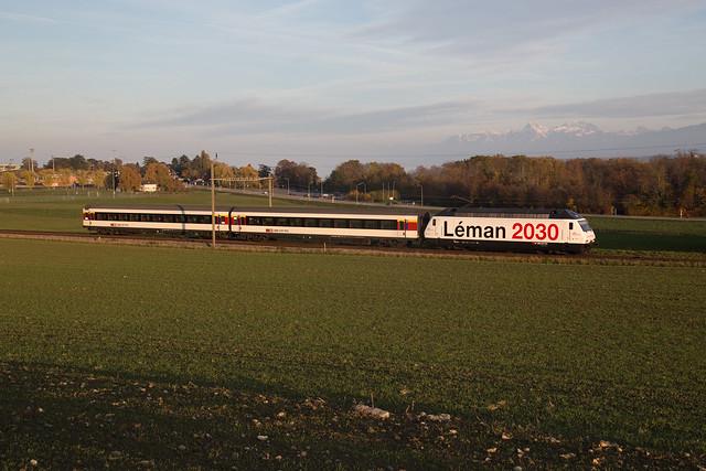 CFF Re 460 075 Léman 2030 à Crans-près-Céligny