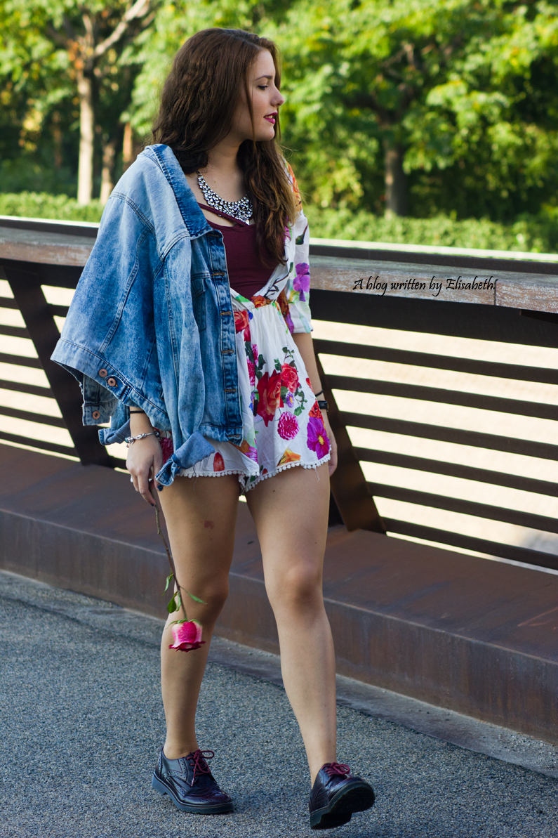 kimono floral chaqueta vaquera denim top shana burgundy oxfords primark pull and bear inditex HEELSANDROSES(7)