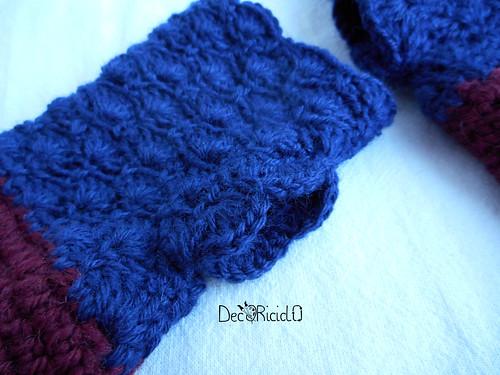 guanti senza dita bicolore con ventaglietti 2