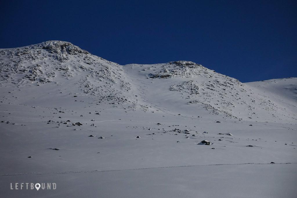 Ascent/descent to Tverrdalsfjellet