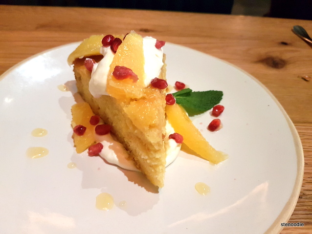 Orange Blossom Polenta Cake