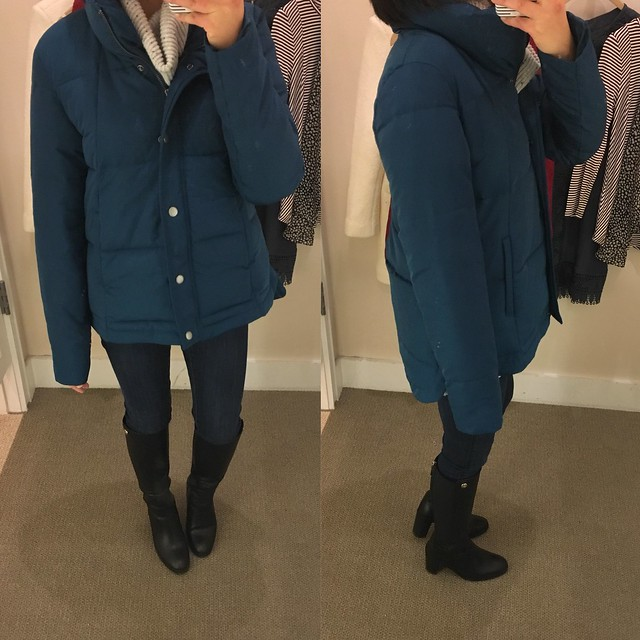LOFT Swing Puffer Coat, size XS regular