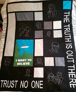 X-Files Quilt top