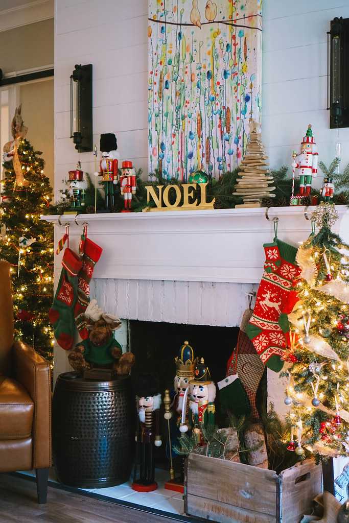 Transitional Christmas Living Room Decor Living After Midnite