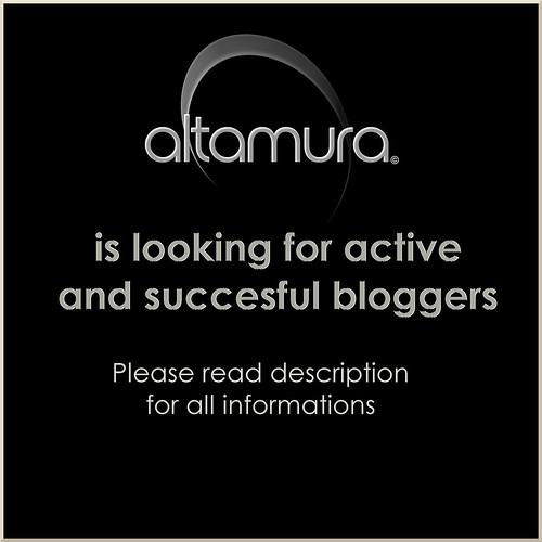 Altamura is looking for bloggers