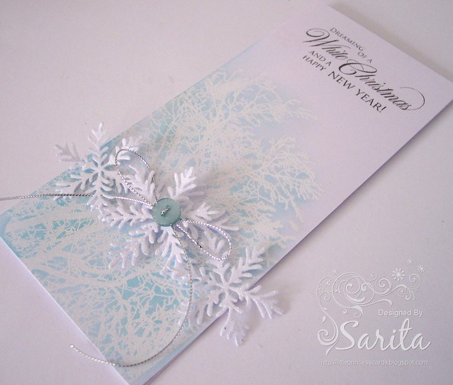 Christmas snowflake card 3a