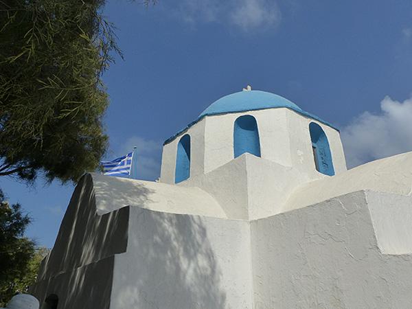 coupole de la petite église de Paros