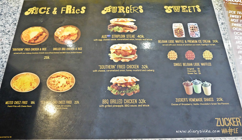 menu zucker waffle
