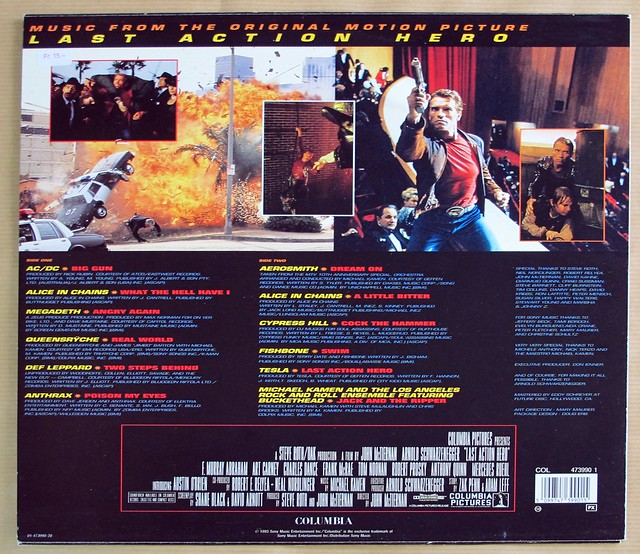 "LAST ACTION HERO OST MUSIC FROM THE ORIGINAL MOTION PICTURE 12"" LP VINYL"