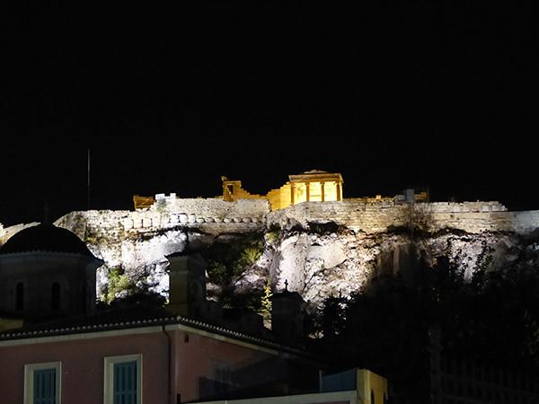 nuit sur l'Acropole