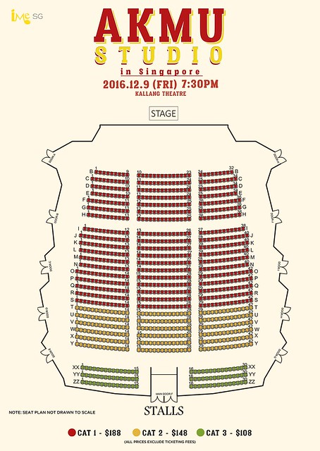 Akdong Musician - AKMU STUDIO IN SINGAPORE Seating Plan