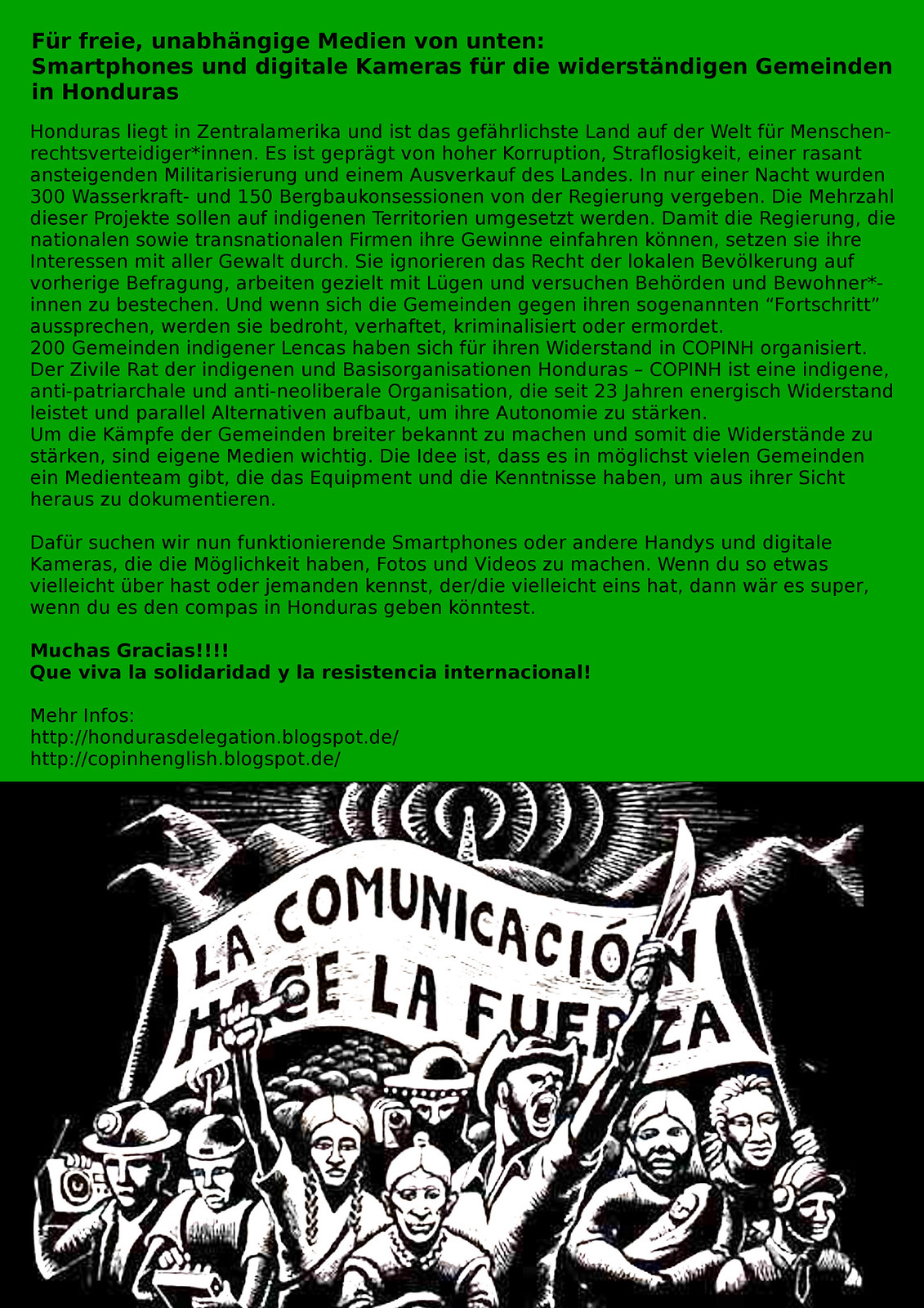 plakat Sammelaktion kameras