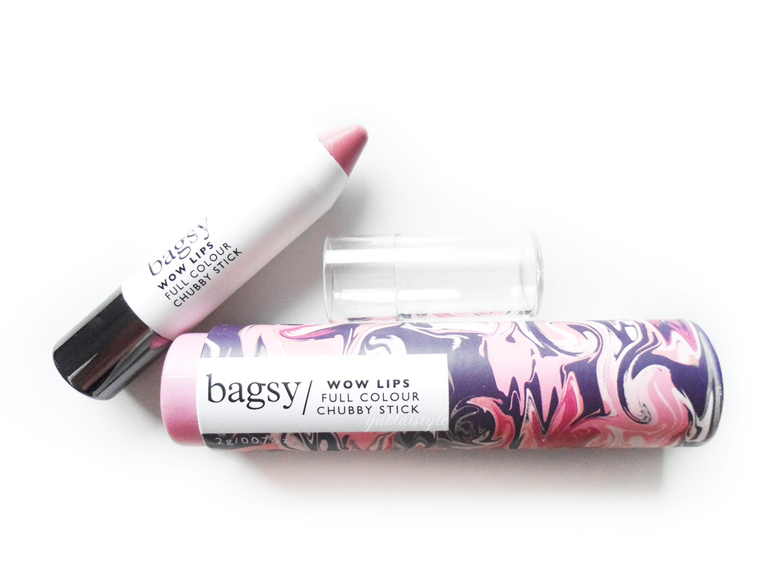 Bagsy Beauty Wow Lips Full Colour Chubby Stick in Happy Days review and swatch