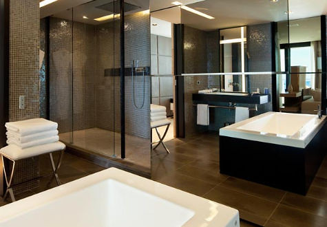 Presidential Suite Bathroom at the JW Marriott Cannes