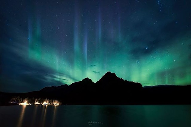 Gotta love when this happens during a workshop! Wonderful aurora display last night in Banff National Park. We were on the bus during the big dance but managed to get to Lake Minnewanka in time to catch the tail end of the show, around 10:45 pm. Off to th