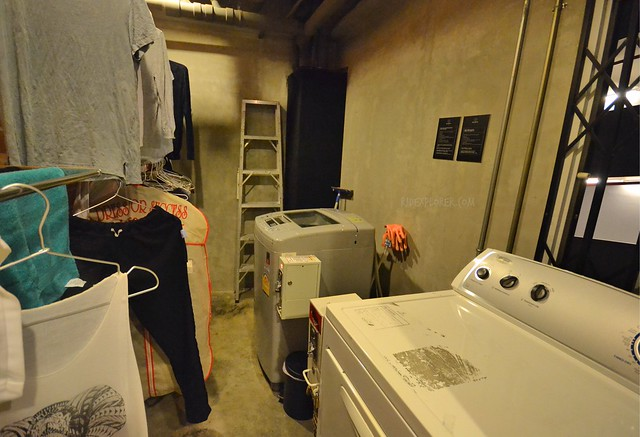 bed station hostel laundry and dryer