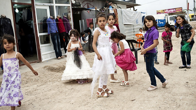 Refugee Republic- Children in preparation for a wedding