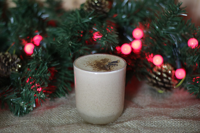 Fesive eggnog cocktail
