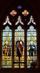Christ the Saviour of the World flanked by St Michael and St Gabriel by AL Wilkinson, 1947